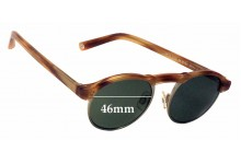 Warby Parker Bates Replacement Sunglass Lenses - 46mm wide