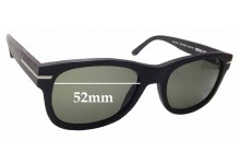 Sunglass Fix Replacement Lenses for Wewood Crux 49 - 52mm wide