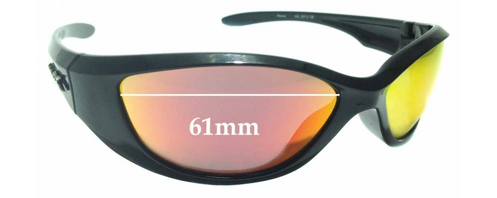 Sunglass Fix Replacement Lenses for Wiley X Ink - 61mm Wide