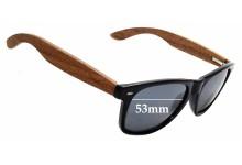 Sunglass Fix Replacement Lenses for Woodies Wayfarer - 53mm Wide