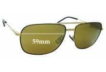 Sunglass Fix New Replacement Lenses for Yves Saint Laurent Classic 12 - 59mm Wide