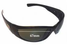 Dirty Bombster Replacement Sunglass Lenses - 67mm wide