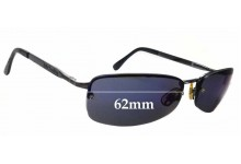 Sunglass Fix Replacement Lenses for Dirty Dog Spike  - 62mm wide
