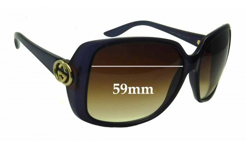 Gucci 3166/S Replacement Sunglass Lenses - 59mm wide