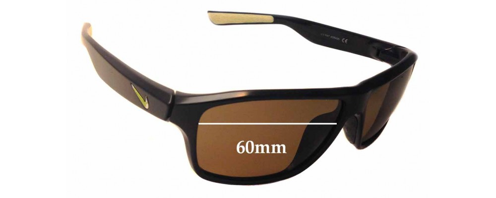 0552408dc47 Nike Premier 6.0 EVO789 Replacement Sunglass Lenses - 60mm wide