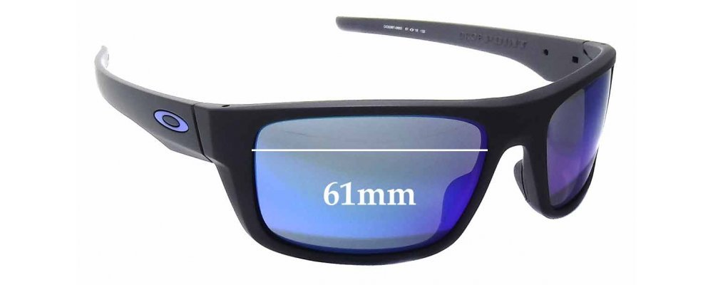 Oakley Drop Point OO9367 Replacement Sunglass Lenses - 61mm wide