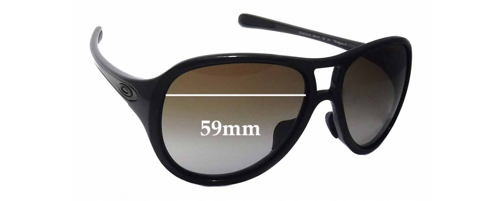 Oakley Twentysix.2 Asian Fit OO9218 Replacement Sunglass Lenses - 59mm wide