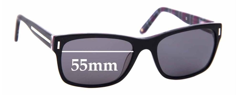 Sunglass Fix Replacement Lenses for Alex Perry AP Men 01 - 55mm Wide