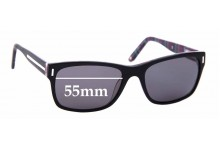 Sunglass Fix New Replacement Lenses for Alex Perry AP Sun Rx 01 - 55mm Wide