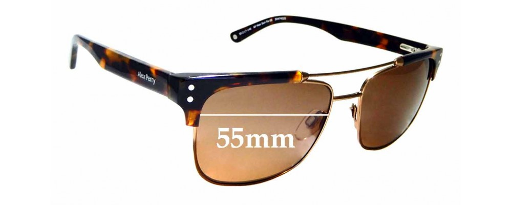 Sunglass Fix Replacement Lenses for Alex Perry AP Men Sun Rx 05 - 55mm Wide