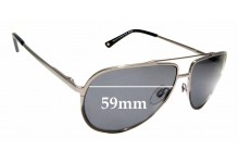 Sunglass Fix New Replacement Lenses for Alex Perry AP Sun RX 07 - 59mm Wide