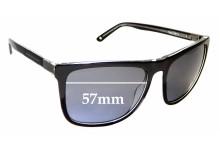 Sunglass Fix Replacement Lenses for Alex Perry AP Men Sun Rx 11 - 57mm Wide