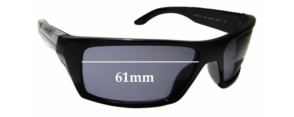 Sunglass Fix Replacement Lenses for Arnette Roboto AN4181 - 61mm wide