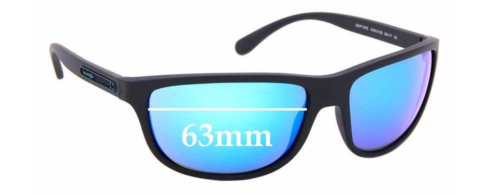 Sunglass Fix Replacement Lenses for Arnette Grip Tape AN4246 - 63mm wide