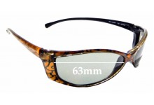 Sunglass Fix Replacement Lenses for Arnette RAJ1214AA AN1015 - 63mm wide