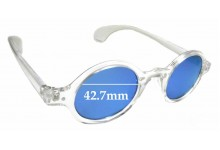 Sunglass Fix Replacement Lenses for Beison 3020 - 42.7mm wide