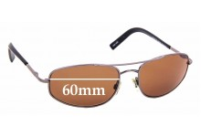 Sunglass Fix Replacement Lenses for Bill Bass 29659 - 60mm wide