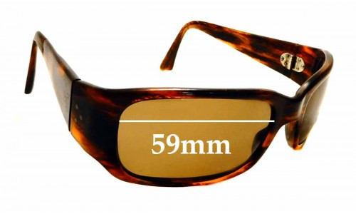 Sunglass Fix Replacement Lenses for Blinde Baby Gia Twist - 59mm wide