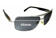 Sunglass Fix Replacement Lenses for Brioni Real Horn Cor2 - 64mm wide