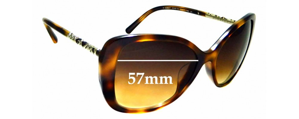 28d893f1402f Sunglass Fix Replacement Lenses for Burberry B 4238-F - 57mm wide ...