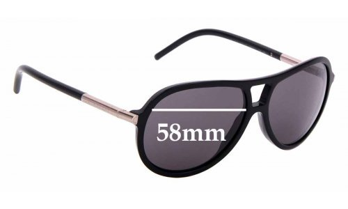 Sunglass Fix Replacement Lenses for Burberry B4063 - 58mm Wide