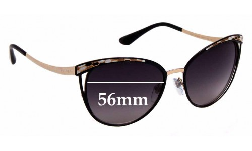 Sunglass Fix Replacement Lenses for Bvlgari 6083 - 56mm wide