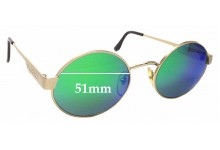 Sunglass Fix Replacement Lenses for Byblos B513 - 51mm wide