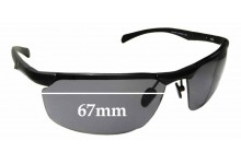 Sunglass Fix Replacement Lenses for Callaway J499 - 67mm Wide