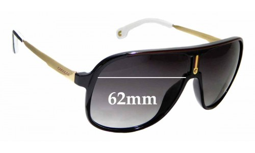 Sunglass Fix Replacement Lenses for Carrera 1007/S - 62mm wide