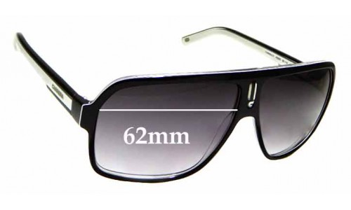 Sunglass Fix Replacement Lenses for Carrera 27 - 62mm wide