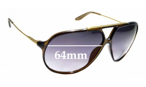 Sunglass Fix Replacement Lenses for Carrera 82 - 64mm wide