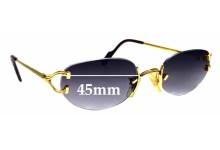 Sunglass Fix Replacement Lenses for Cartier 1902197 - 45mm Wide