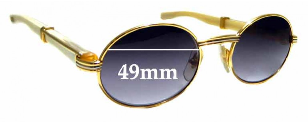 Sunglass Fix Replacement Lenses for Cartier Giverny T8100103 - 49mm wide