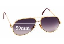 Sunglass Fix New Replacement Lenses for Cartier Santos Aviator Vermeil - 59mm Wide