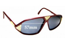 Sunglass Fix Replacement Lenses for Cazal Mod 199 - 57mm Wide
