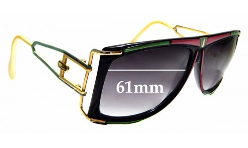 Sunglass Fix Replacement Lenses for Cazal Mod 866 - 61mm Wide