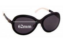 Sunglass Fix Replacement Lenses for Chanel 4199 - 62mm Wide