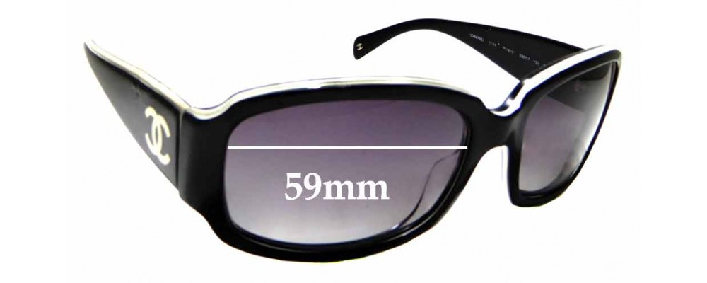 9ebf80edaa5e Sunglass Fix Replacement Lenses for Chanel 5144 - 59mm wide ...