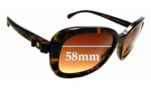 Sunglass Fix Replacement Lenses for Chanel 5280-Q - 58mm wide