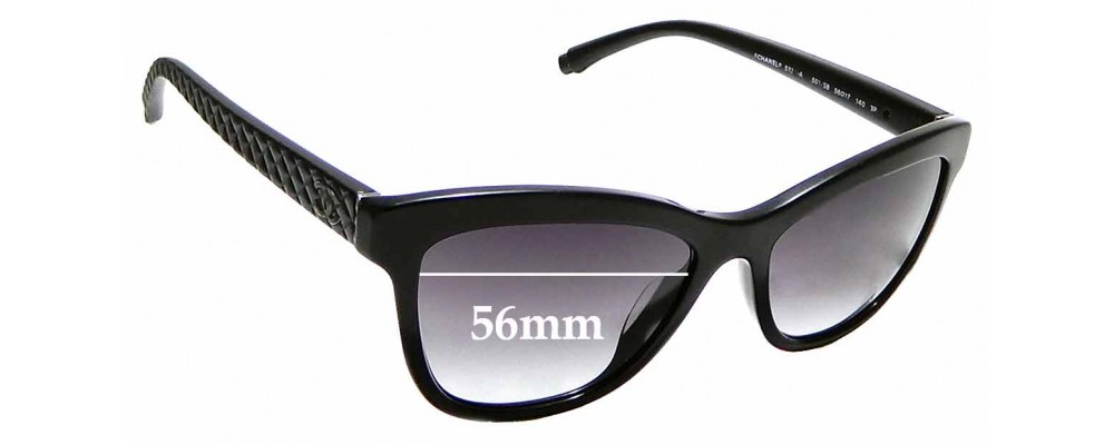 ede94534e0 Sunglass Fix Replacement Lenses for Chanel 5330-A - 56mm wide ...