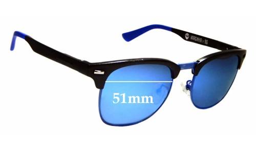 Sunglass Fix Replacement Lenses for Chilli Beans Varginha X96 - 51mm wide