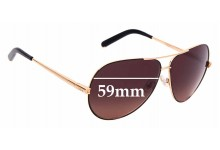 Sunglass Fix New Replacement Lenses for Chloe CE 107S - 59mm Wide