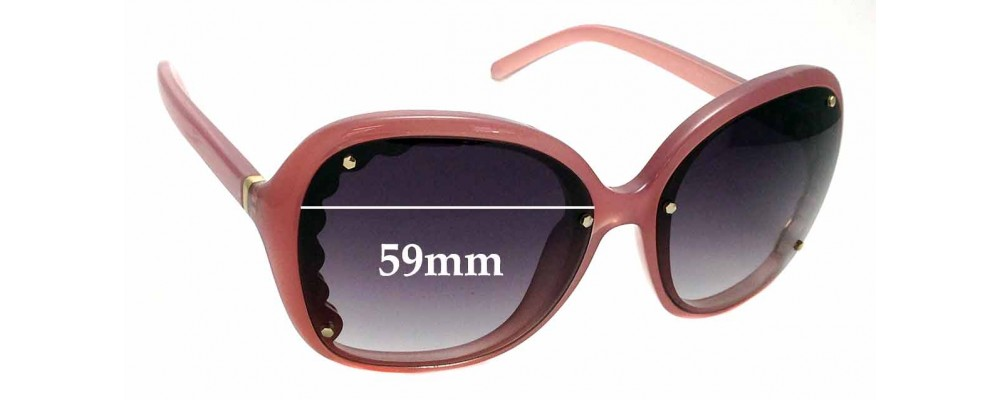 Sunglass Fix Replacement Lenses for Chloe CE653S - 59mm Wide