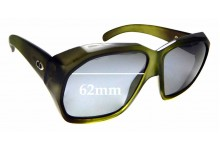 Sunglass Fix Replacement Lenses for  Christian Dior 2001 Monsieur - 62mm wide