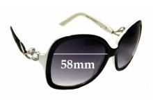 Sunglass Fix Replacement Lenses for Christian Dior D9830A - 58mm wide