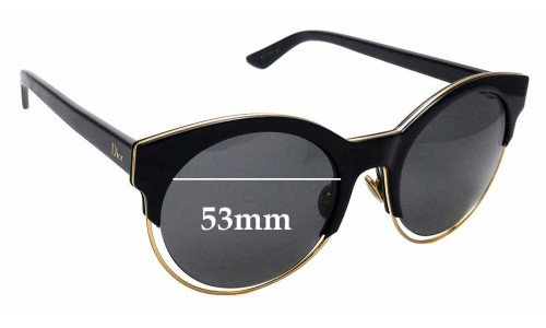 Sunglass Fix Replacement Lenses for Christian Dior - Dior Sideral 1 - 53mm wide