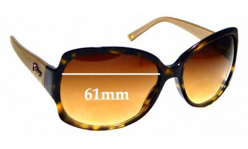 Sunglass Fix Replacement Lenses for Dior Granville 1 - 61mm wide