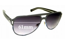 Sunglass Fix Replacement Lenses for Christian Dior Homme Black Tie 20Sd - 61mm wide