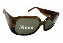 Sunglass Fix Replacement Lenses for Christian Roth 14249- 59mm wide