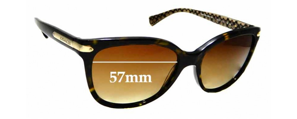 1f15b01774 Coach Ashley HC8104 Replacement Lenses - 57mm wide